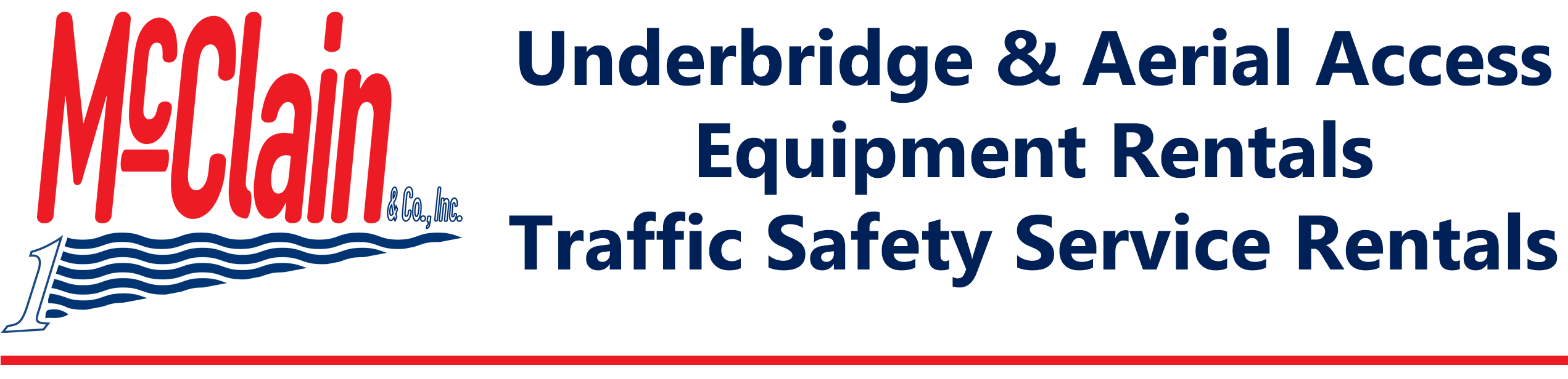 Underbridge and Aerial Access Equipment Rentals | McClain & Co., Inc.